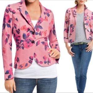 CAbi Pink Rose Garden Floral Blazer Jacket 4 B32